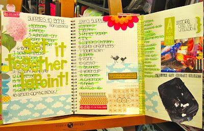 smashbook - i love the addition of a fold out page with tape