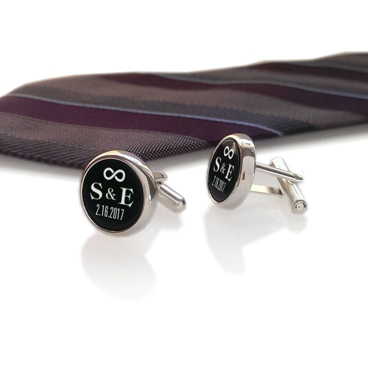 Personalized Wedding Cufflinks,Custom Cufflinks,Groom Wedding Cufflinks,Date and Initials Cufflinks,Engraved CuffLinks,Infinity Symbol  ✈ We ship worldwide - Reg. priority airmail with TRACKING NUMBER ✈ ✈ Shipping upgrade DHL EXPRESS ( USA 1-2 days ) or GLOBAL EXPRESS ✈ Check the DHL delivery times and prices at the bottom of the page !!!  GREAT GIFT FOR GROOM, WEDDING, WEDDING ANNIVERSY Surprise Your guy or husband a unique cufflinks with initials and wedding date with dedication on gift…