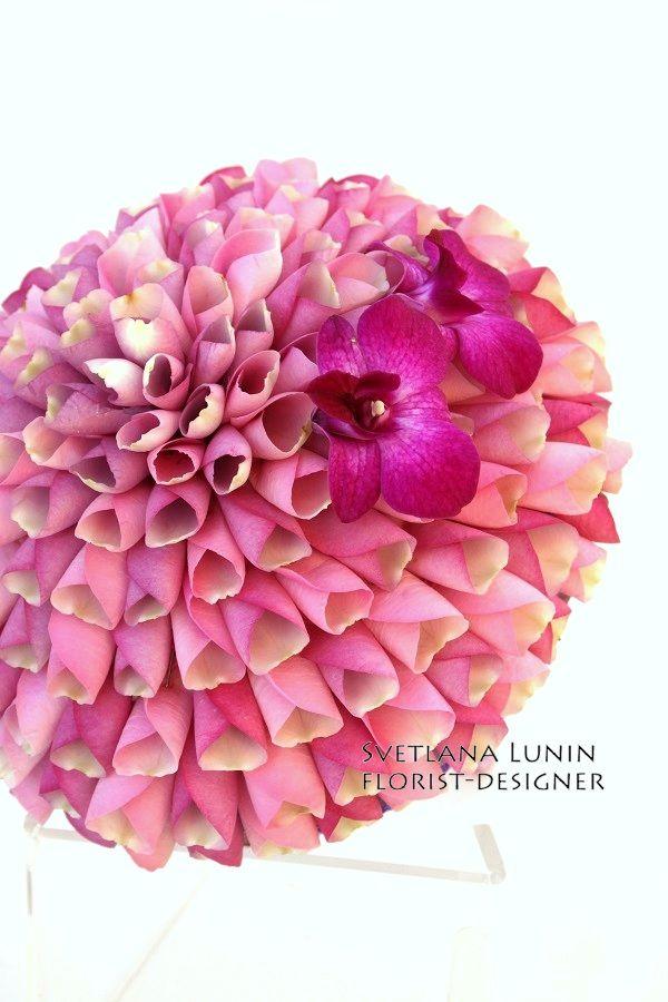 composite bouquet - rosamelia from Svetlana Lunin #glamelia #pinkbouquet #floralart