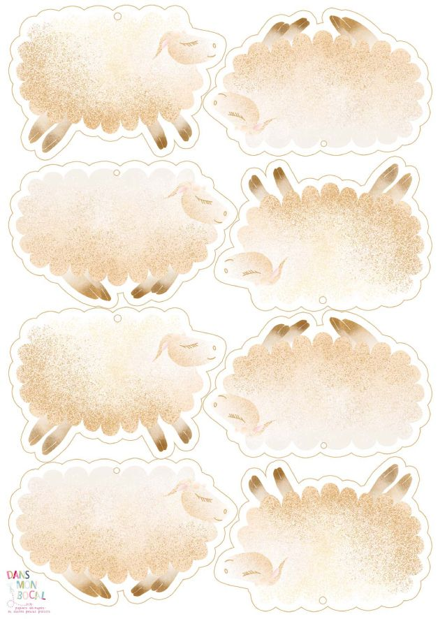 free printable guirlande de mouton.psd