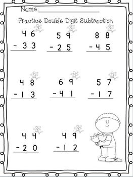 math worksheet : double digit addition and subtraction without regrouping  : Subtraction Without Regrouping Worksheets 2nd Grade