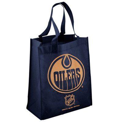 Edmonton Oilers Navy Blue Reusable Tote Bag