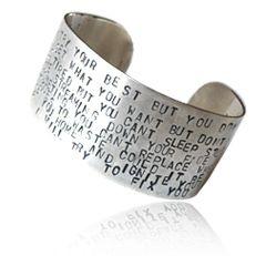 Carmasilver - handgjorda silversmycken textsmycken smycke silver unikt personligt