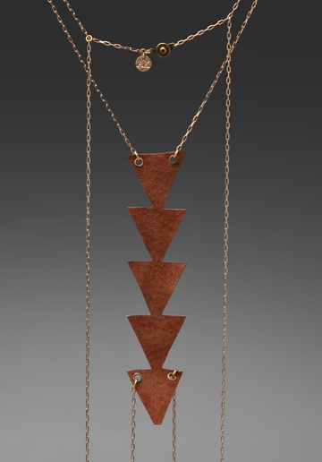 JEWELRY X REVOLVE AK Vintage Ancient Tradition Body Chain in Camel Leather/ Gold Toned at Revolve Clothing - Free Shipping!