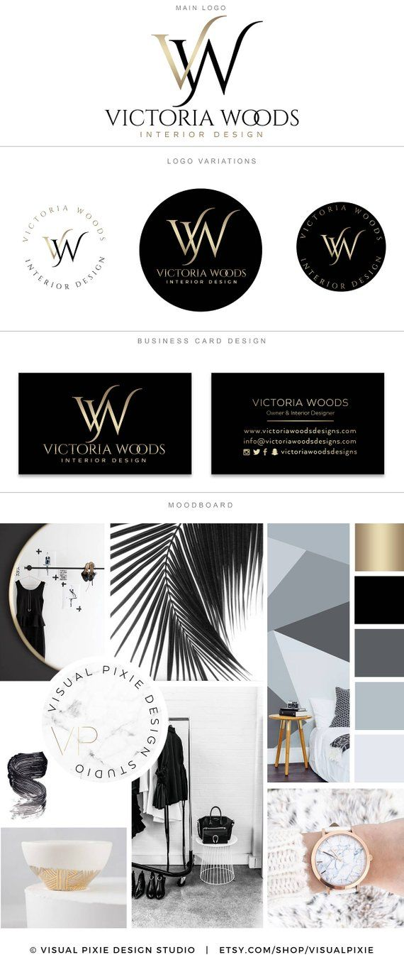 Premium Branding Package Luxury Gold Black Logo Hair Salon