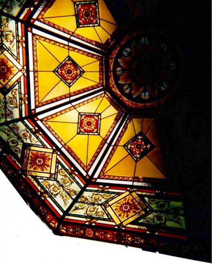 stained glass dome details realized by france vitrail international paris in kuwait. Black Bedroom Furniture Sets. Home Design Ideas