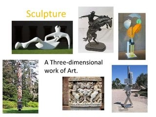 Introduction to Sculpture with images of bug sculpture by Riverwood HS, via Slideshare