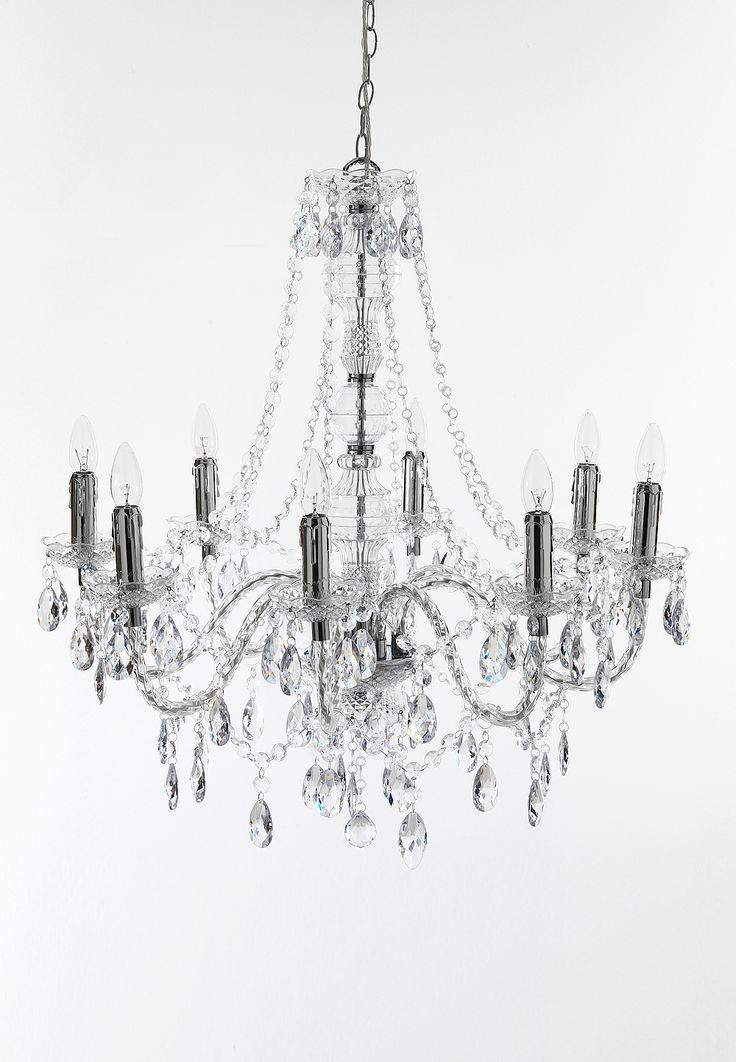 8 light chandelier JEWEL TRANSPARENT