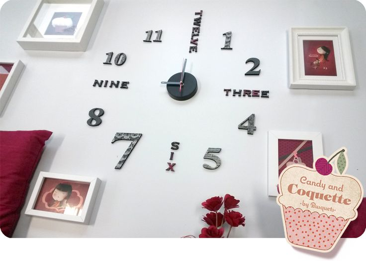 reloj pared washitape