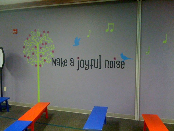 How great for a choir room!  Uppercase Living custom design and embellishments combined. #church #music #UppercaseLiving