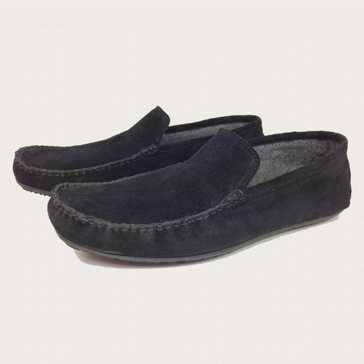 Black Suede Driving Shoes Hand Sewn Moccasins - Aston | Coogan London