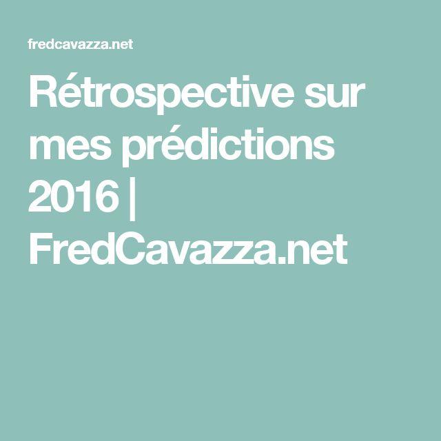 Rétrospective sur mes prédictions 2016 | FredCavazza.net