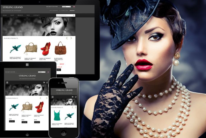 Responsive Stirling Grand - $0.00 : Zen Cart, Zen Cart Templates, Responsive Ecommerce Design