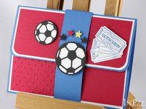 Reserviert Geschenkverpackung für Fußball-Ticket