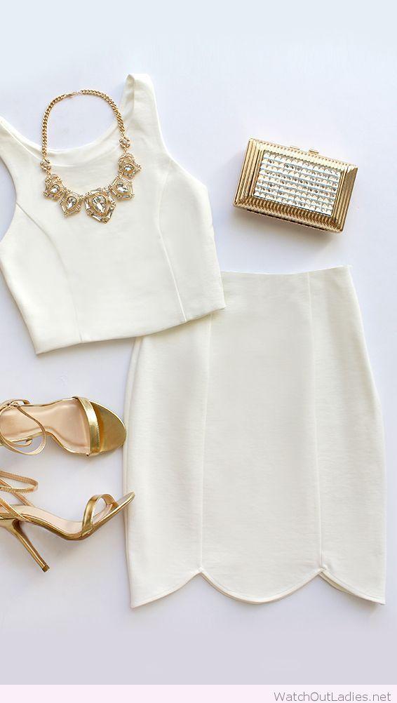 Two-piece white dress