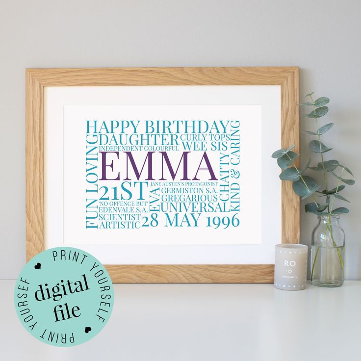 21st Wedding Anniversary Gifts For Her: 46 Best Word Art Prints Images On Pinterest