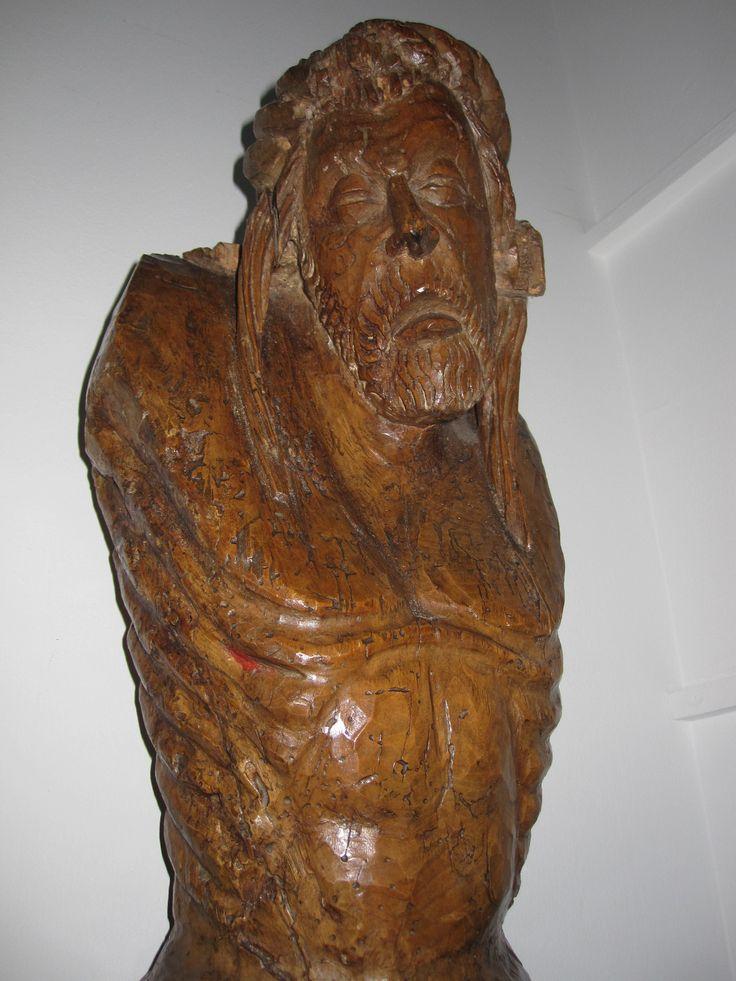 Cristo (detalle)  transición románico a gótico. s.XIV http://www.martinvillenalibreroanticuario.com/