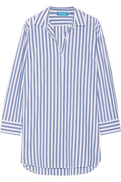 M.i.h Jeans - Oversized Striped Cotton Shirt - Blue -