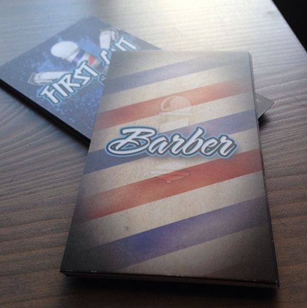 Printed Business Cards for Local Barber Shop