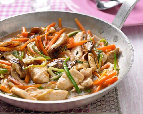 Leichte Putenbrust, frisches Gemüse und Agavensaft sind das Geheimnis hinter diesem kalorienarmen Geschnetzelten. Das steht in nur 30 Minuten auf dem Tisch.