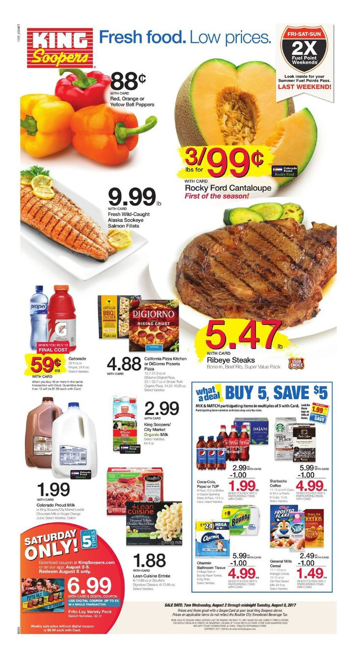King Soopers weekly ad August 2 - 8, 2017 - http://www.olcatalog.com/grocery/king-soopers-weekly-ad.html