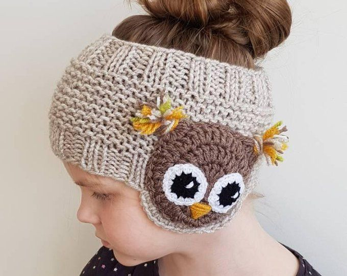 Ladies Brown Animal Owl Beanie Hats Onesize fits most