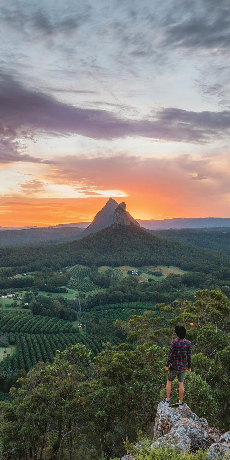 Sunrise in the Glasshouse Mountains - by @visitqueensland