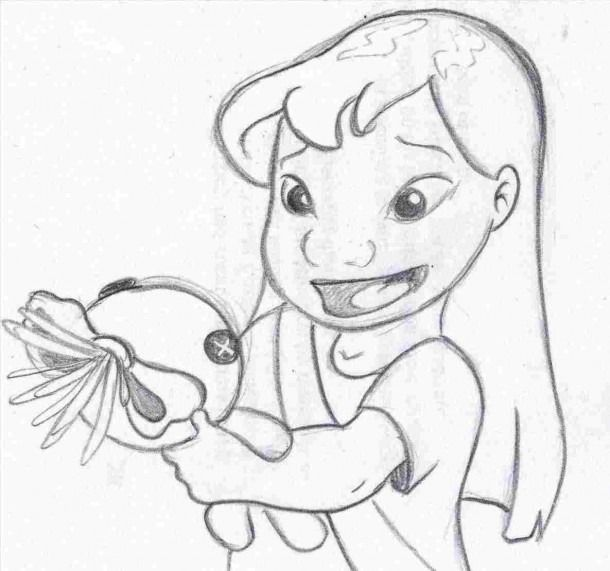Disney Easy Drawings Lilo And Stitch Drawings Easy Disney Drawings Cartoon Drawings