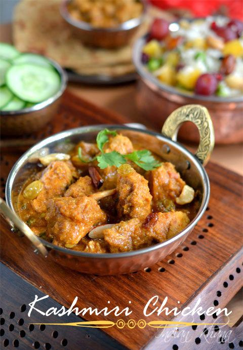 Kashmir Chicken Curry | Kashmir Murgh Masala Recipe | Chicken Recipes ~ Indian Khana