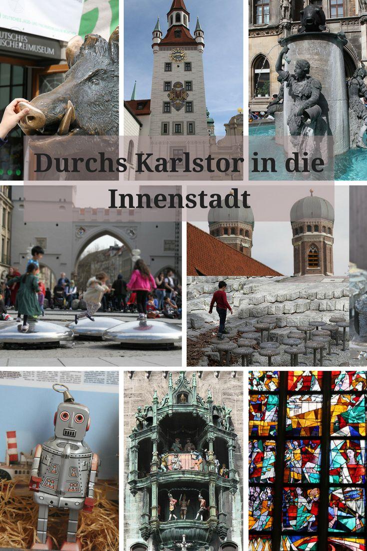 Habt ihr Lust heute mit uns eine kleine kulturelle Reise durch die Münchner Innenstadt zu unternehmen? Wir beginnen im Zentrum Münchens am Karlsplatz (Stachus), der wunderbar mit der U-Bahn (U4/5) und allen S-Bahn-Linien, sowie der Tram zu erreichen ist. Auf unserem ganzen Weg liegen immer wieder sehenswerte Kirchen, allerdings widmen wir uns nur zweien, denn Kirchen sind für kleine Kinder vielleicht weniger interessant.