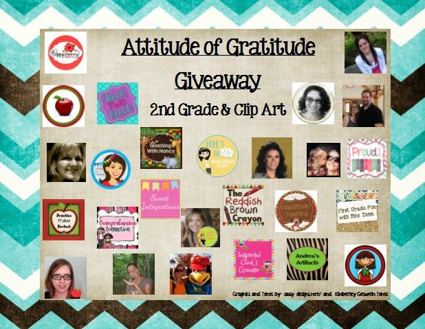 Attitude of Gratitude: Second Grade Freebies:  We are so excited to be apart of this awesome Giveaway!  Head over to enter and grab some great FREEBIES while you are there.