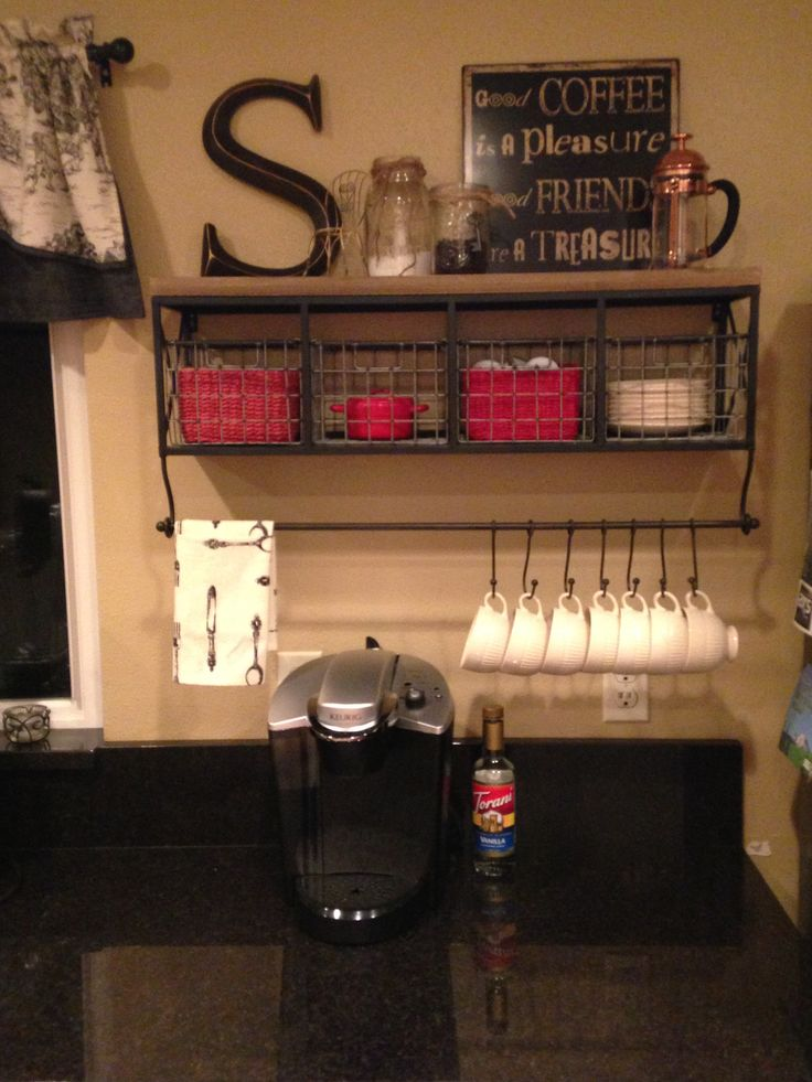 Did it! Our own kitchen coffee station   pinterest inspiration