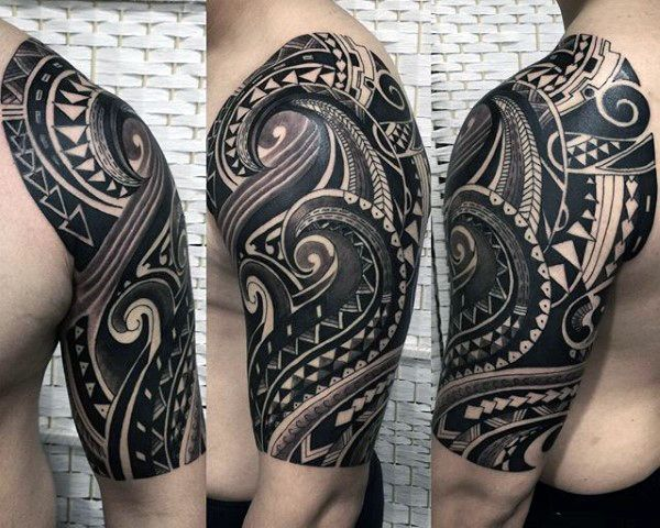 75 Half Sleeve Tribal Tattoos For Men