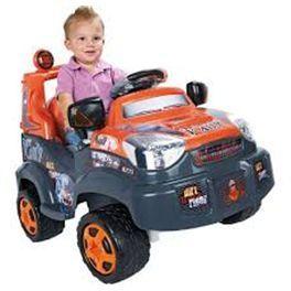 Coche eléctrico TT rally para niños con original diseño todo terreno naranja. Funciona con motor y batería de 6V. Tiene acelerador en el pie y freno eléctrico, además de cambiador con marcha adelante y atrás. Alcanza una velocidad máxima de 3.2 km/hora. Incluye la batería y el cargador. Más info y compra en: http://www.elosito.com/bicicletas-motos-triciclos-coches-a-bateria/12243-coche-electrico-tt-6v-8410779576132.html