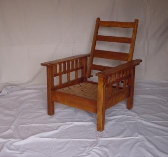 Oak Craftsman Reclining Chair