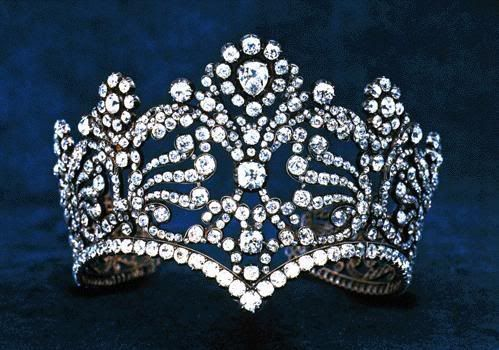 "The Diadem of Empress Josephine (1804) ""Made for the coronation of Empress Josephine in December 1804. In 1887 the French Republic decided to hold a major sale of its treasures and this tiara was purchased by the New York firm of Van Cleef and Arpels, in whose possession it remains today."