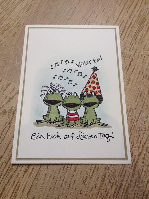 Stempellicht: Love You Lots Froschchor Karte zum Bloggeburtstag....