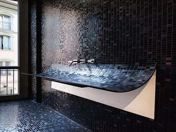 Black Bathroom Tile Ideas Unique Design Decoration