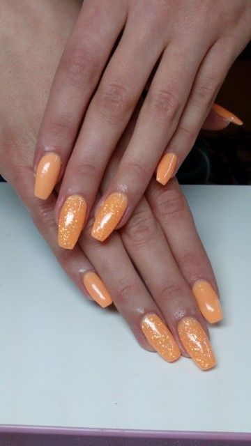 Summer Orange Nails
