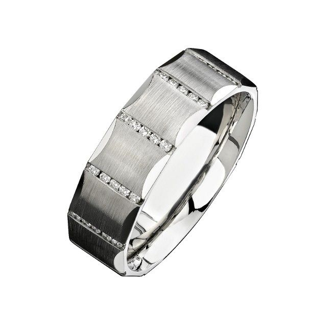 Natalie K White Gold Channel Round Diamond Men Band Available At Renaissance Fine Jewelry In Vermont