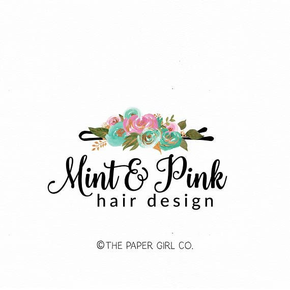 Hair Clip Logo Hair Stylist Logo Hair Salon Logo Beauty Shop Logo