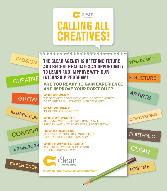 Agency Job Listing Creative #theclearagency