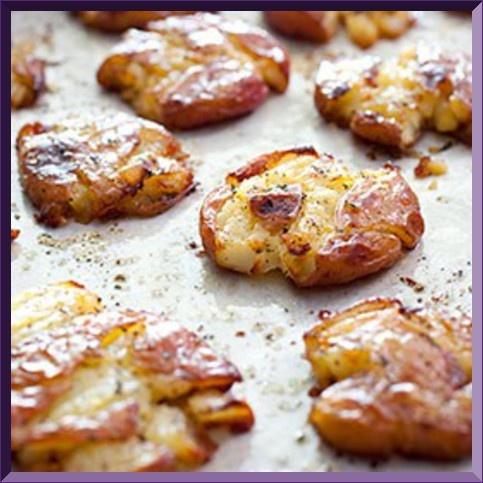 Crash hot potatoes, Fingerling potatoes and Skillet potatoes