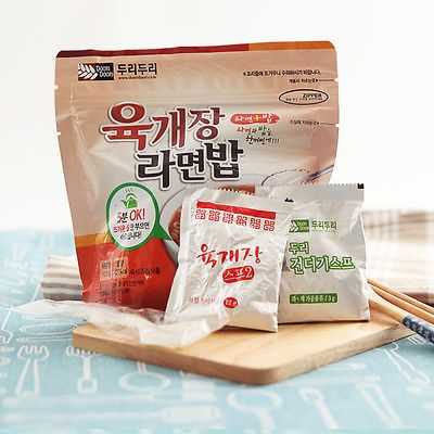 Korean Food Yukgejang Noodle&Rice Ramenbap Asian Food MRE Hot Water Need Only