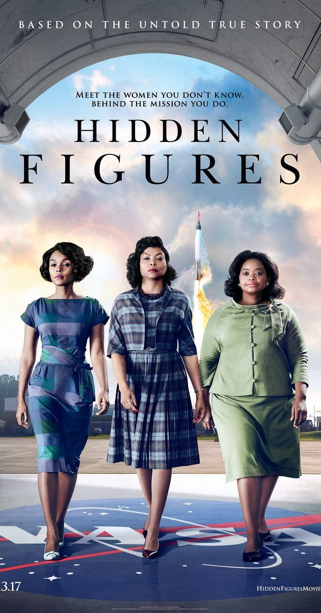 """Directed by Theodore Melfi.  With Taraji P. Henson, Octavia Spencer, Janelle Monáe, Kevin Costner. Based on a true story. A team of African-American women provide NASA with important mathematical data needed to launch the program's first successful space missions. """"Interesting story, excellent performances and great execution made this bio-pic/docu-drama an enjoyable watch. Loved it."""""""