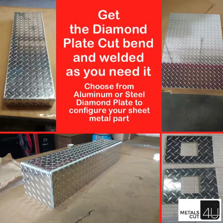 Aluminum Diamond Plate At Your Fingertips Video Diamond Plate Sheet Metal Fabrication Metal Working Projects