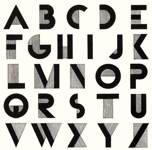 Cassandre, Bifur font, 1929