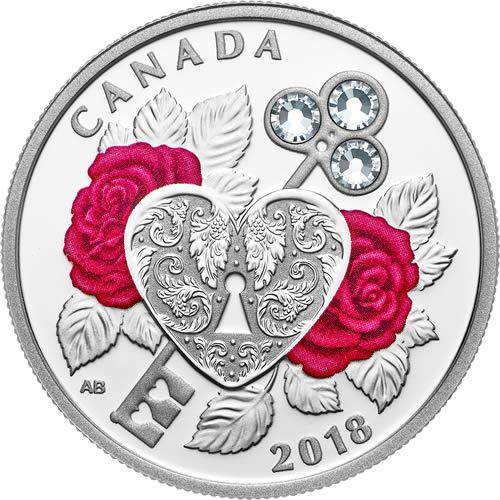 Buy Now: http://goccf.com/rcm/itm/prod3121026  RCM New Release: 2018 Celebration of Love - Pure Silver Coin made with Swarovski Crystals - Coin Community Forum