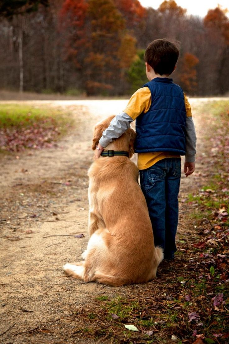 A boy and his dog ... best friends!