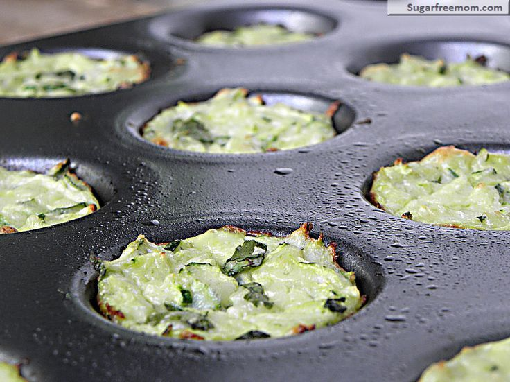 Mini Zucchini Cheese Bites, low carb, 4 ingredients!
